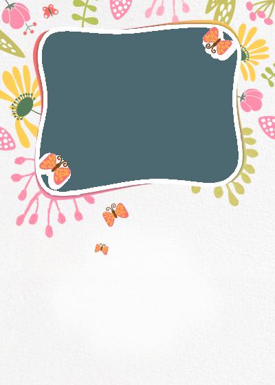 first birthday flower wrap invitation