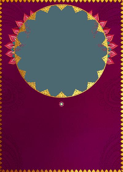 Pendants Petals And Hues Invitation Invites