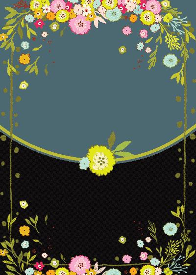 floral birthday angel invitation