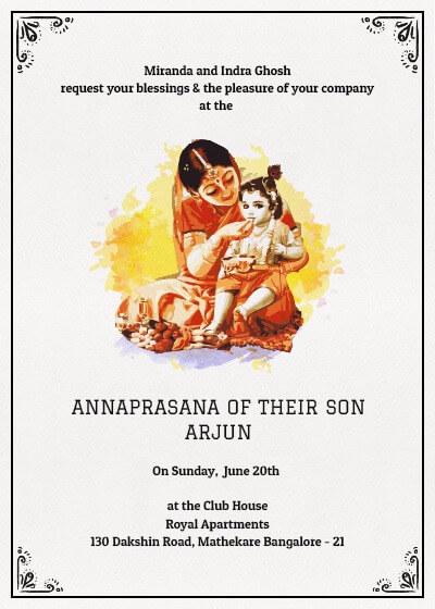 First Rice Ceremony Annaprasan