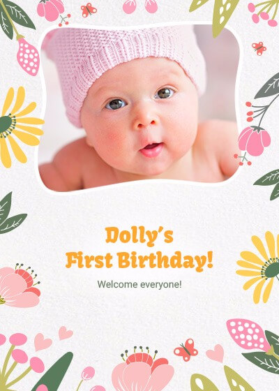 First birthday pink baby invitation invites baby girl first birthday invitation filmwisefo
