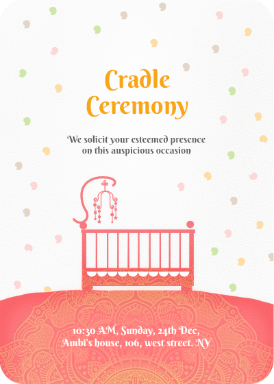 Naming Ceremony Invitation Template | Online Invitation Card Designs Invites