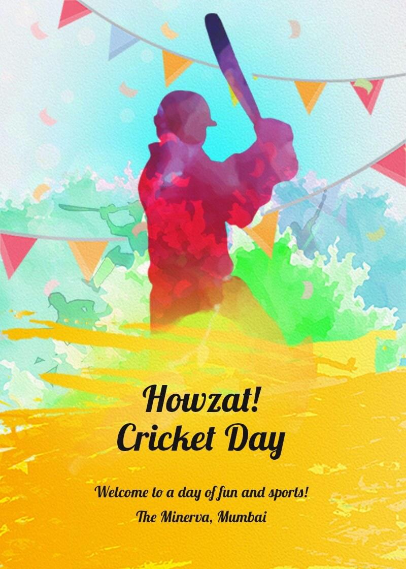 Cricket Day Invitation Invites