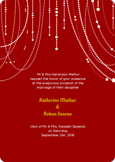 Satyanarayan Puja Invitation Card In English All The