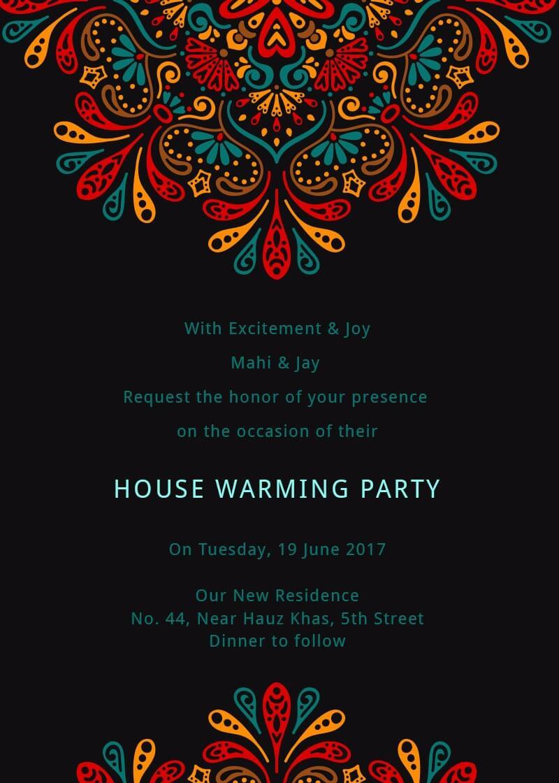 Mandalas Housewarming Party Invitation Invites