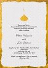 Nikah Ceremony - Elegant Gold Foil