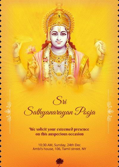 Satyanarayana Roopa Sankalpa