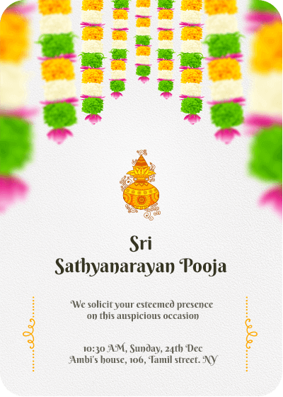 pooja invitation wordings