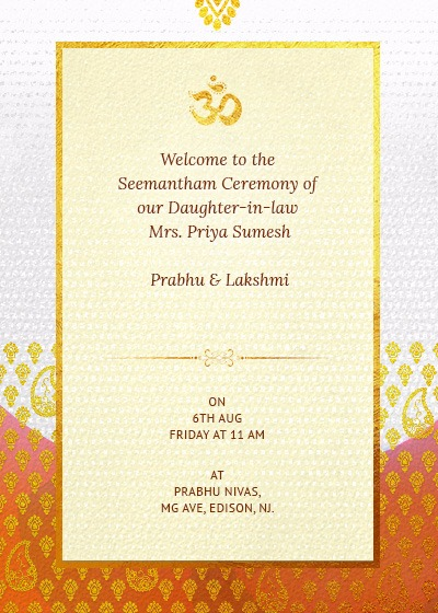 Indian Folk Textures And Patterns Invitation Invites