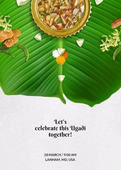 ugadi - flavors of life invitation